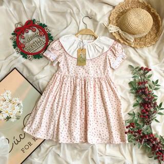 Đầm Bé Gái ⚜️ Tự Thiết Kế ⚜️ Váy Bé Gái Tay Bồng Hồng Nhạt Vải Thô cao cấp