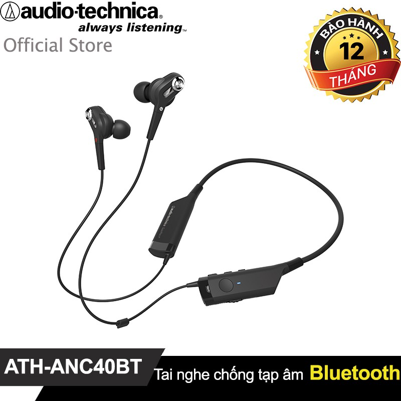 Tai nghe Audio-Technica in-ear Bluetooth chống tạp âm (Active Noise Cancelling) ATH-ANC40BT