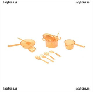 OM 10pcs Mini Tableware Toys Kitchen Dining for BJD Doll House accessory play toy KS