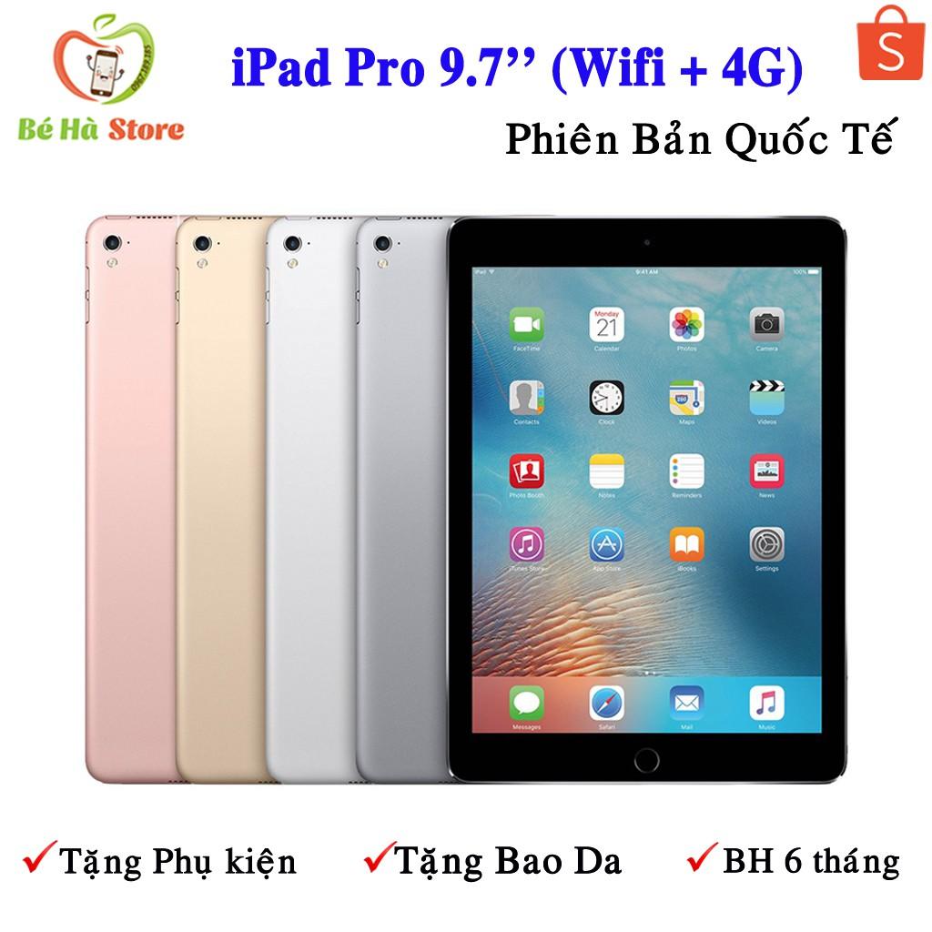 Máy Tính Bảng iPad Pro 9.7'' (4G+ Wifi) 32Gb / 128Gb Chính Hãng - Zin Đẹp 99% - Màn Đẹp / Loa To / Ram 2Gb / Chip A9X