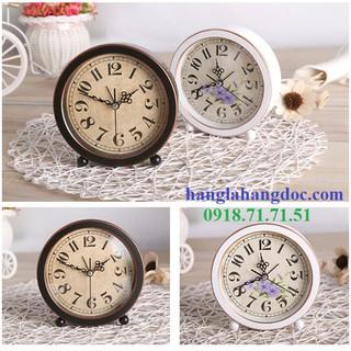 Đồng hồ để bàn giả cổ trang trí độc đáo, mặt tròn Version 3