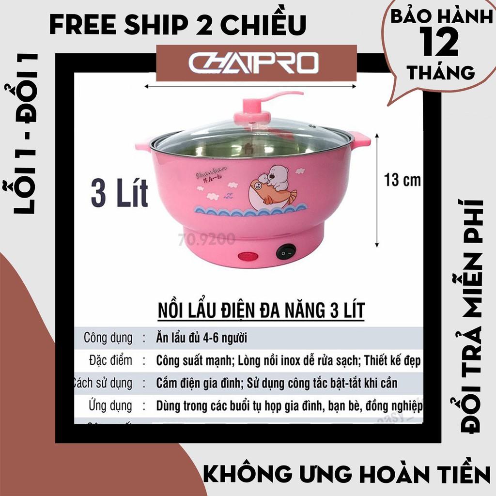 [Hàng Loại 1] Nồi Lẩu Điện Mini Đa Năng 24-26cm Inox304, nồi lẩu mini 24-26cm đa năng cao cấp - Bảo Hành 12 tháng