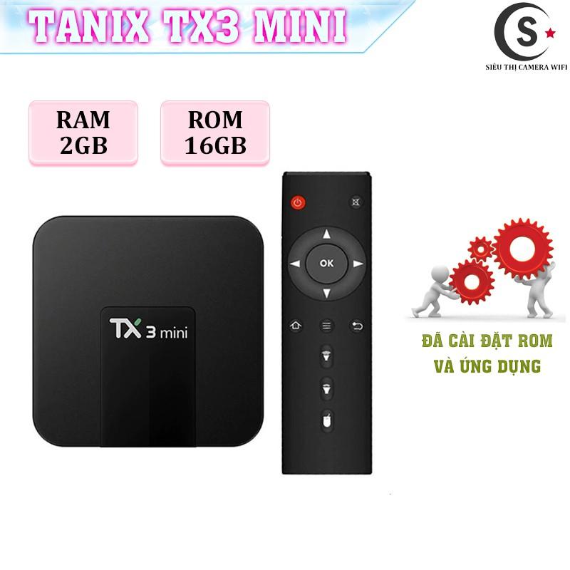 Android Tivi Box Tanix Tx3 Mini - Ram 2Gb, Rom 16GB, Bluetooth 4.0 - Có Bản Rom ATV