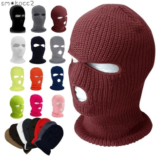 ☆☆ Face Mask Ski Mask Winter Cap 3/2/1 Hole Balaclava Beanie Hat Hood Tactical Warm Men 【SK2】