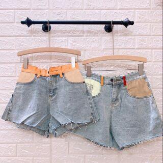 Shorts jean kiểu túi phối màu NN110 JNW018