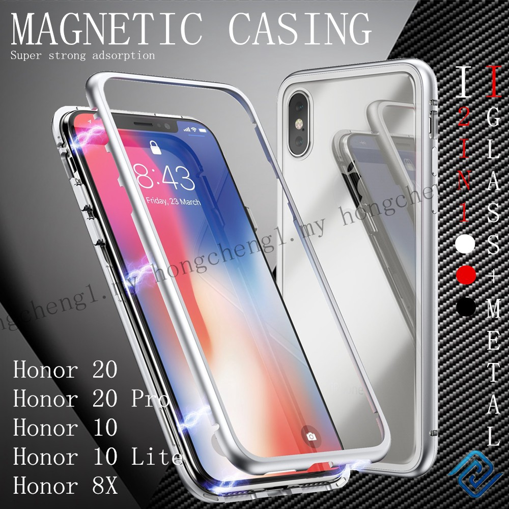 Huawei Honor 20 Honor 20 Pro Honor 8X Honor 9X Honor 10 Honor 10 Lite Tempered Glass Magnetic Hard Case