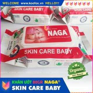 [BABY CARE] Bịch Khăn Ướt Em Bé Skin Care Baby 80 Miếng - Thơm, Mềm, An Toàn Cho Bé Yêu - KOOFOX