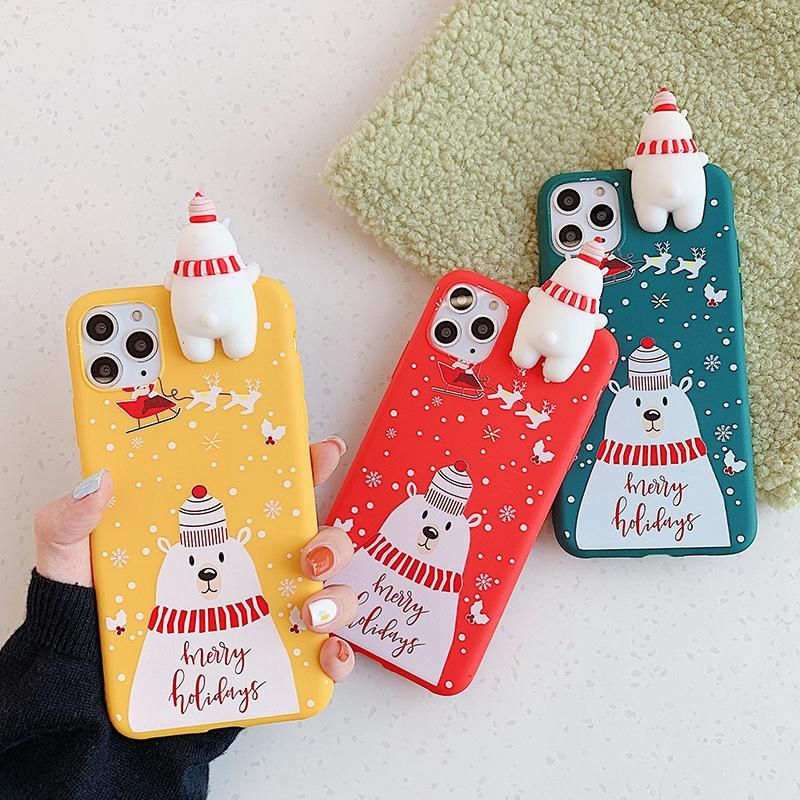 Ốp Lưng Hình Gấu Và Thỏ Xinh Xắn Cho Điện Thoại Iphone