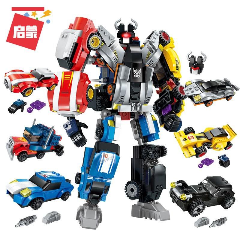 Bộ Lắp Ráp Robot Biến Hình 6 Trong 1 -...