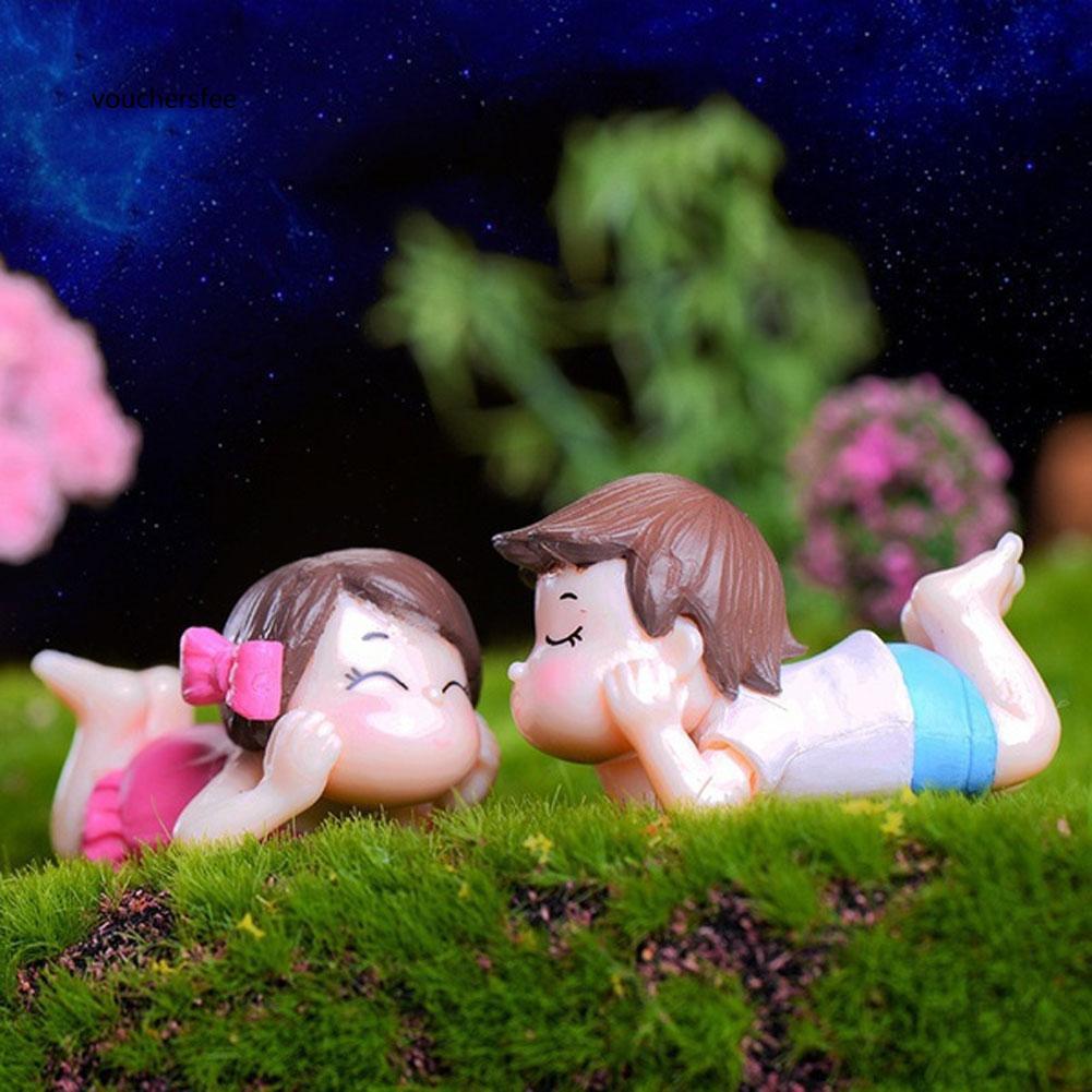 Cặp tượng bé trai và bé gái xinh xắn dùng để trang trí