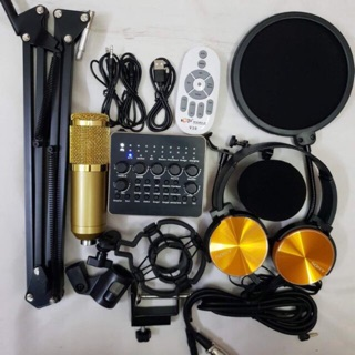 [Freeship toàn quốc từ 50k] chọn bộ sound V10 Mic thu am Bm800 phụ kiên ( 5 món) tặng tai nghe sony