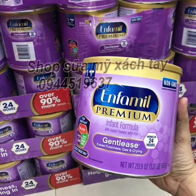 Enfamil premium gentlease dành cho bé hay ọc sữa tiêu hoá kém 593gram