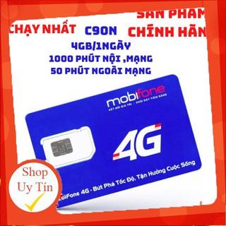 Sim 4g Mobifone C90N 4gb 1 ngày, miễn phí tháng đầu