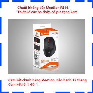 Chuột không dây Gaming Meetion R516 - Thiết kế bá cháy - Màu đen - Có pin tặng kèm - Chính hãng - Bảo hành 12 tháng thumbnail