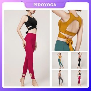 Áo bra có dây buộc / quần dài thời trang thể thao dành cho nữ