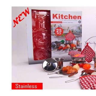 Bộ đồ chơi nấu ăn bằng Inox