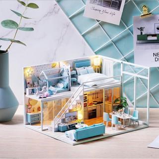 Nhà búp bê gỗ – Biệt thự POETIC LIFE màu xanh thơ mộng và lãng mạn của gia đình trẻ