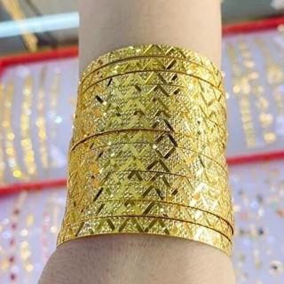 Bộ vòng Ximen GADO 7 chiếc thiết kế sang trọng chạm khắc tinh tế đeo quý phái V034 thumbnail