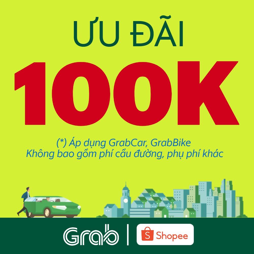 Ưu đãi 100k cho chuyến xe GrabBike, GrabCar