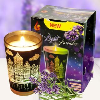 Ly nến thơm tinh dầu đổi màu Golden Dragon City Light Lavender 140g – hoa oải hương, thơm phòng, tỏa hương tốt