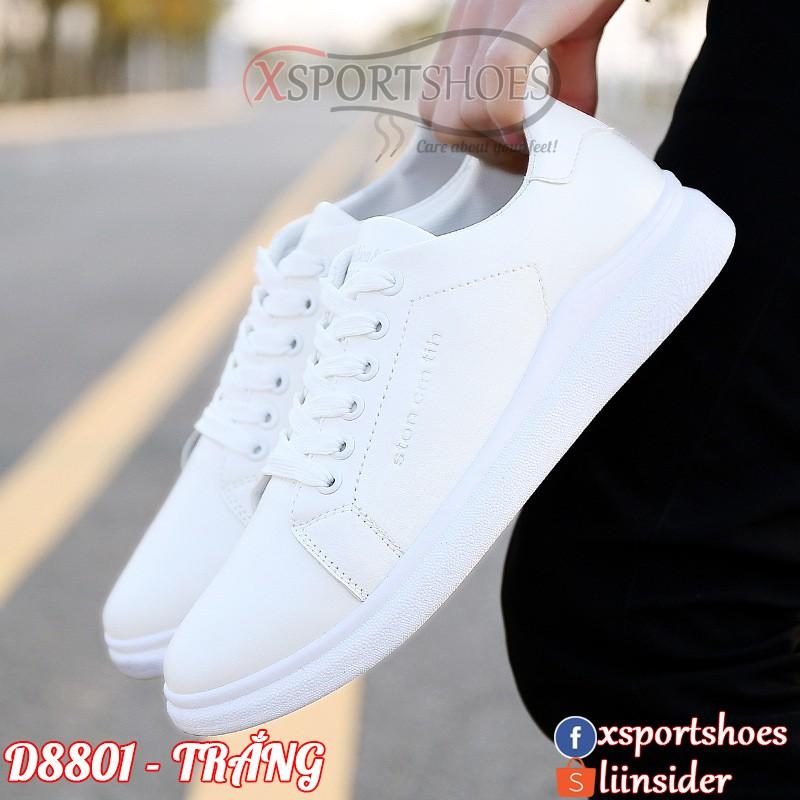 Giày thể thao nam Ston cm tih D8801 sneaker trắng thời trang da PU