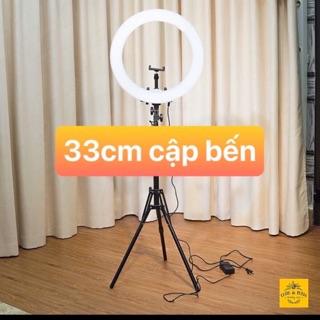 ĐÈN LED LIVESTREAM SIZE LỚN 33cm kèm chân cao 2,1m kẹp đt bảo hành 6 tháng
