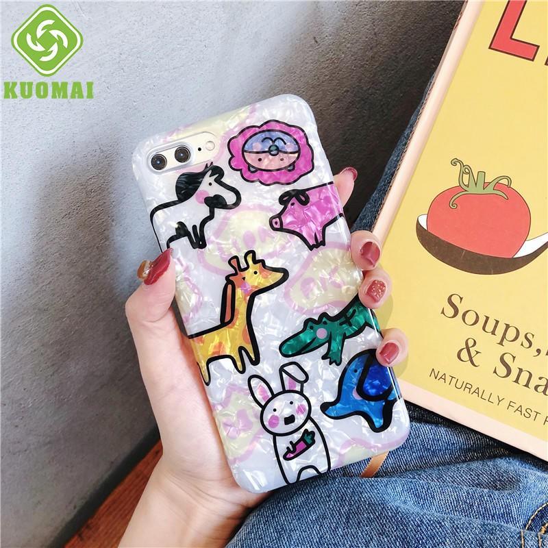 Ốp điện thoại silicon họa tiết động vật đáng yêu cho IPhone X/Xs Max 8plus 7 6plus 6s 6