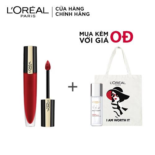 [Giá chỉ 189K khi mua 2 sản phẩm] Son kem lì nhẹ môi cao cấp Rouge Signature L'Oreal Paris 7ml