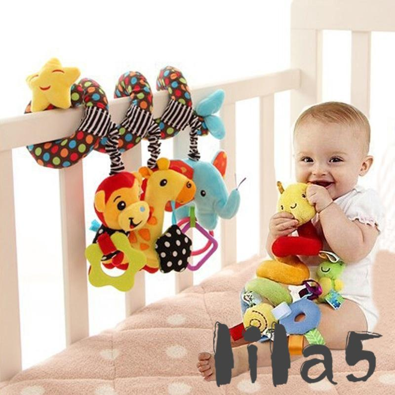 ღ☭Baby Activity Spiral Bed Stroller Buggy Cot Car Soft Toy Infant Kids