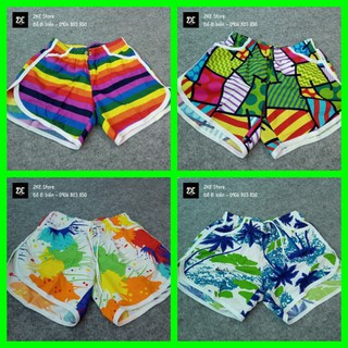 [Hàng có sẵn] Quần đi biển, quần đôi chất vải Kate Thái mềm mịn