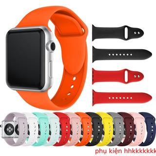 Dây applewatch silicon apple chống bám bẩn cho seri 12345 đầy  đủ các size 38/40/42/44 ,ảnh shop tự chụp
