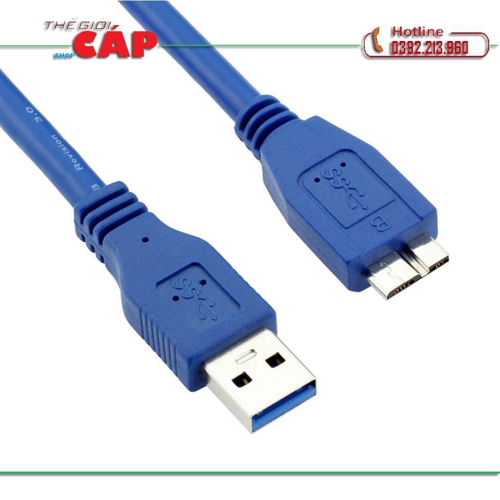 Cáp HDD Box USB 3.0 1.5M (Xanh)