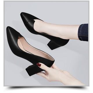 Giày nữ cao gót phong cách công sở ( xếp mũi), A21