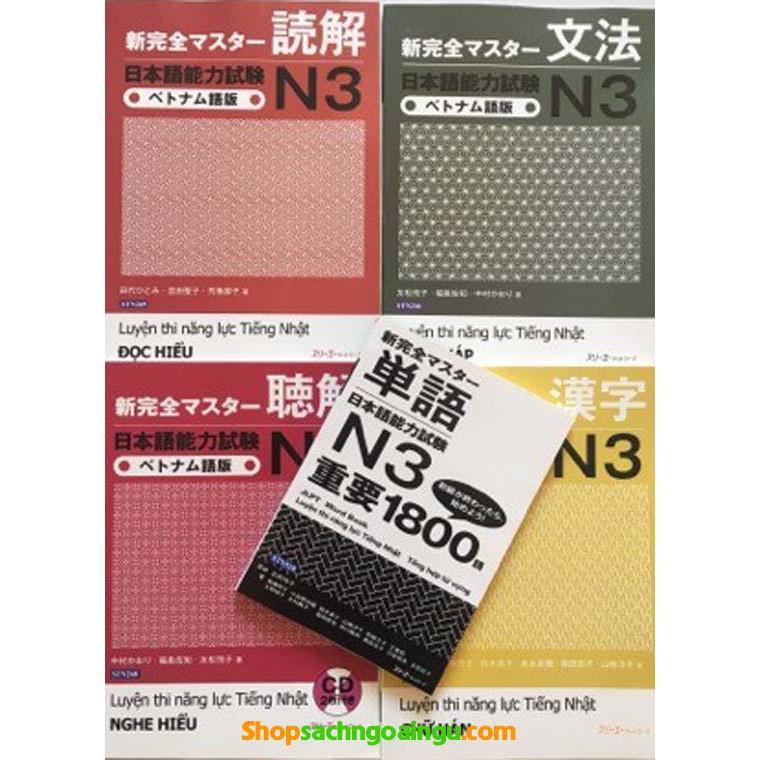 Sách - Combo Shin kanzen master N3 – Trọn bộ 5 cuốn