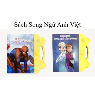 [1 Ngày ] Sách Tập Nói Song Ngữ Cho Trẻ Phát Triển Thông Minh An Toàn Tiện Lợi Tặng Kèm Pin