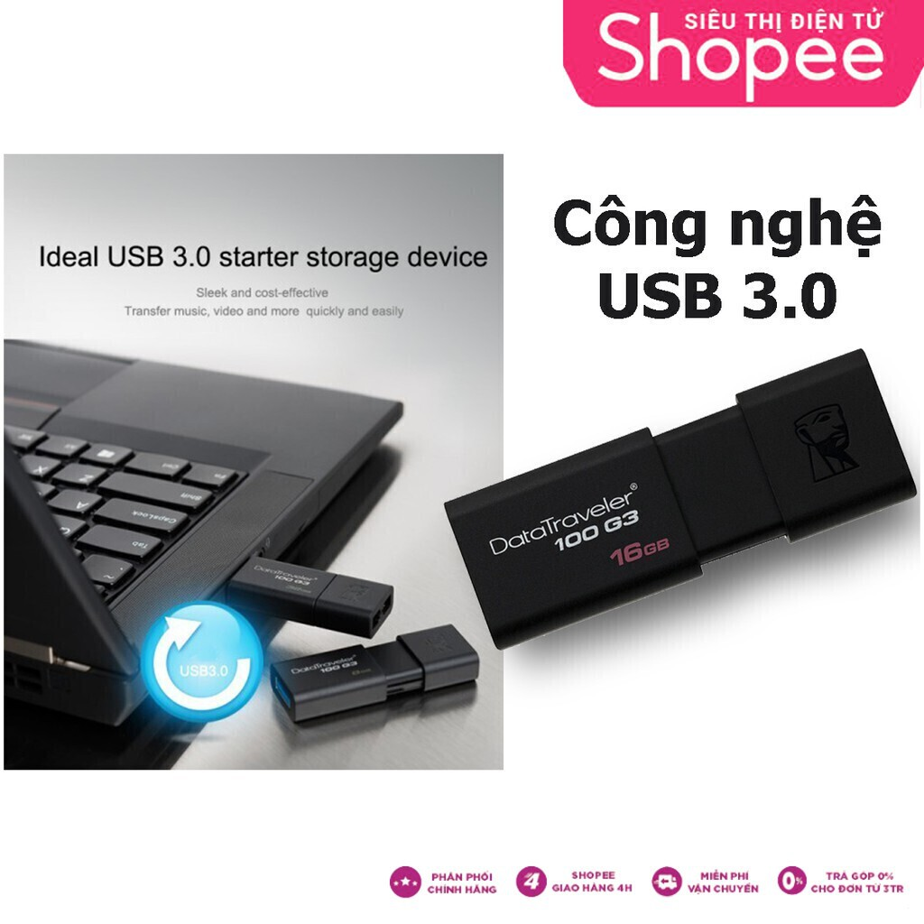 {Deal Sale} USB Kingston DT100G3 16GB Giá chỉ 111.250₫