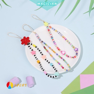MAGIC New Strap Lanyard Women|Beads Chain Mobile Phone Chain Anti-lost Colorful Hanging Cord Decoration Mobile Phone Rope