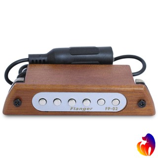 Flanger Wood Acoustic Guitar Sound Hole Pickup Magnetic Pickup for