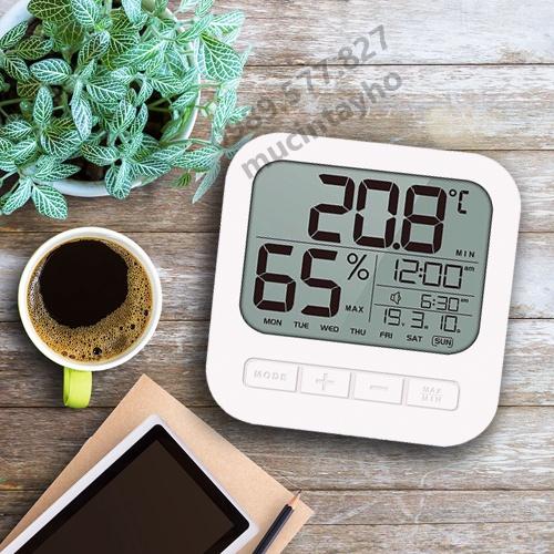Nhiệt ẩm kế, nhiệt kế phòng điện tử đo độ ẩm, đo nhiệt độ phòng ngủ cho bé, máy đo độ ẩm, nhiệt độ, xem ngày tháng năm