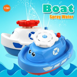 Mini Cute Baby Bath Toys Automatic Spraying Water Boat Float Swimming Shower Toys for Kids