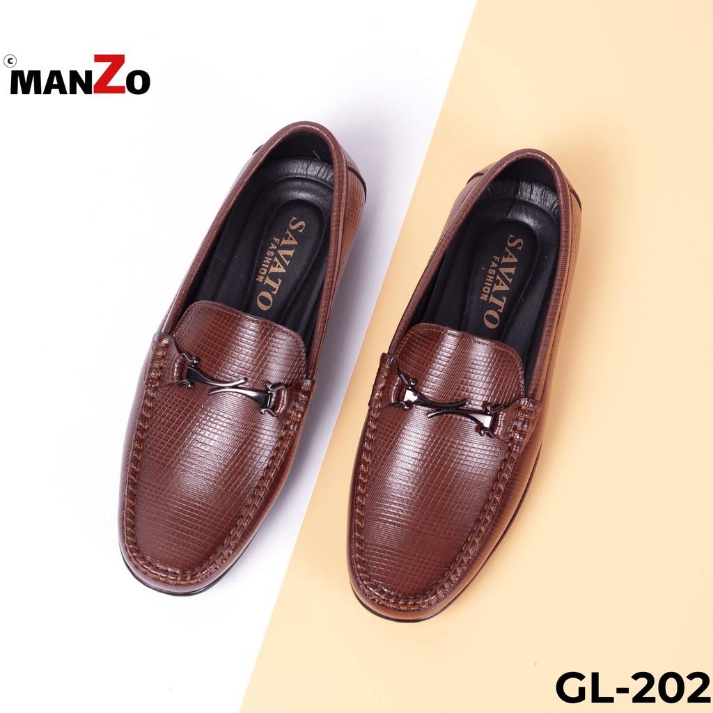 [DA THẬT] Giày lười nam công sở cao cấp da bò Manzo - GL 202