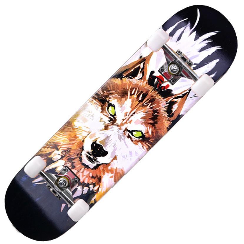 Ván Trượt Thể Thao Skateboard Mặt Nhám Cao Cấp (Khung hợp kim  + bánh cao su cao cấp)