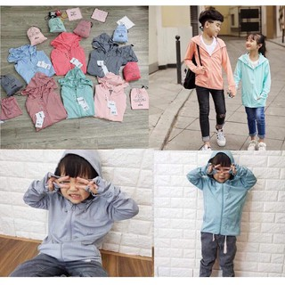 (Ảnh thật, video) Áo chống nắng thông hơi cao cấp cho bé, áo khoác cho bé chất kim cương mềm mát túi cuộn