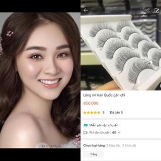 Lông mi Hàn Quốc gân chỉ siêu mềm, siêu mỏng , siêu tự nhiên thumbnail