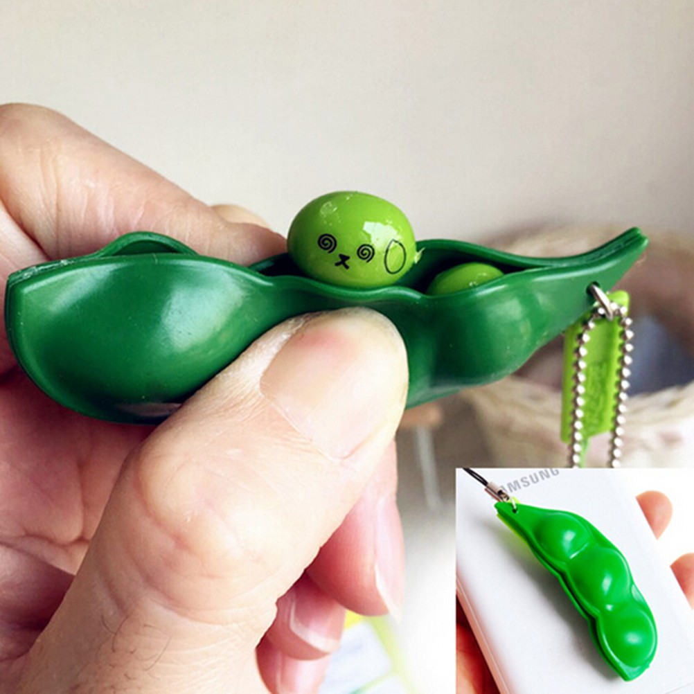 Fun Beans Squishy Toys Pendants Anti Stress Ball Squeeze Funny Gadgets Toys