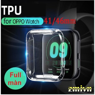 Ốp silicon Full màn bảo vệ màn đồng hồ Oppo Watch 41mm 46mm thumbnail