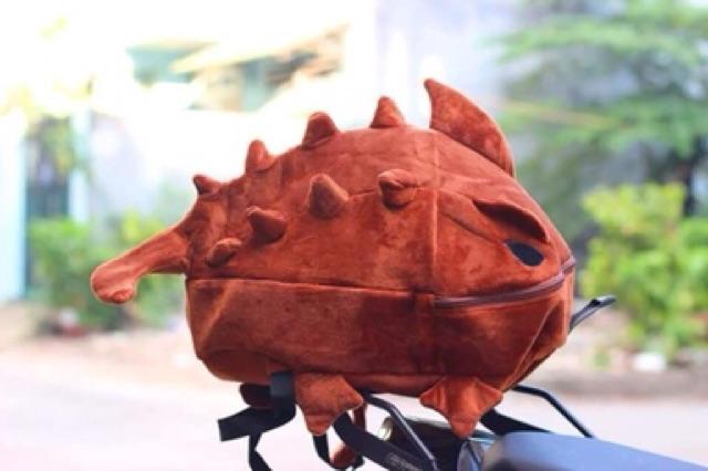 Balo khủng long vải nhung cao cấp