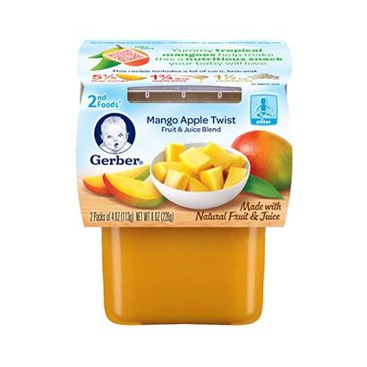 Trái cây nghiền Gerber 2nd vị xoài táo Nam Mỹ