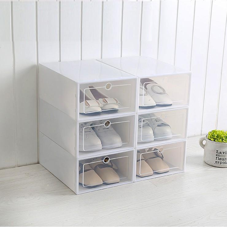 Hộp Đựng Giày Nắp Nhựa Cứng Trong Suốt SIZE Lớn( 33cm x 24cm x 13cm)