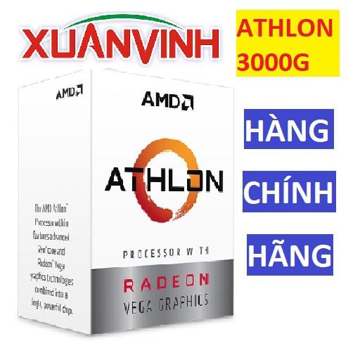 [Mã ELCLXU8 hoàn 8% xu đơn 500K] CPU AMD ATHLON 3000G 3.5 GHZ 4 MB 2 NHÂN 4 LUỒNG VEGA3 (NEW 100%, CHÍNH HÃNG)